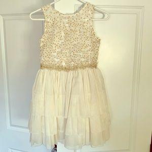 Nanette Lepore cream & gold dress size 14